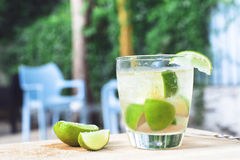 Caipirinha cocktail. With brandy, brown sugar, lime and soda Royalty Free Stock Photography