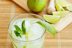 Caipirinha Cocktail. With limes, white rum, sugar and ice Stock Images