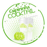 Caipirinha Cocktail Stamp Royalty Free Stock Photos