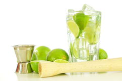 Caipirinha and copyspace Royalty Free Stock Photography