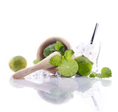 Caipirinha Ingredients Royalty Free Stock Photos