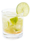 Caipirinha isolated on white Royalty Free Stock Photo