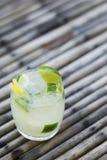 Caipirinha rum and lime brazilian cocktail drink Stock Image