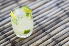 Caipirinha rum lime and sugar brazilian cocktail drink Stock Photo