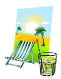 Caipirinha y silla de cubierta libre illustration