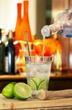 Caipiroska, the Brazilian drink with vodka Royalty Free Stock Images