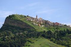 Cairano village from Avellino, Italy Royalty Free Stock Photo