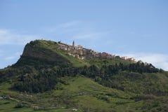 Cairano village from Avellino, Italy Stock Image