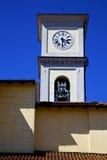 Cairate varese Italien den gamla klockan för klocka för väggterrassklocka Arkivfoton