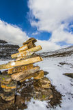 Cairn in Banff's Alpine Wilderness Stock Images