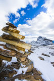 Cairn in Banff's Alpine Wilderness Royalty Free Stock Photo