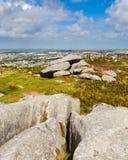 Cairn Brea Hill Cornwall Fotografia Stock Libera da Diritti