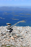 Cairn on Croagh Patrick Royalty Free Stock Image
