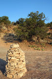 Cairn de roche Images libres de droits