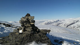 Cairn della montagna Fotografie Stock
