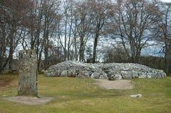 Cairn di Clava, Scozia Immagini Stock
