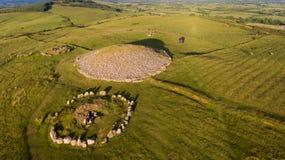 Cairn di Loughcrew contea Meath l'irlanda immagine stock