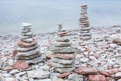 Cairn di pietra Fotografie Stock Libere da Diritti