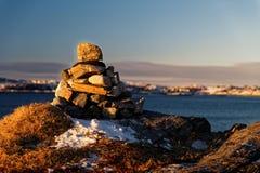 Cairn di pietra Immagine Stock Libera da Diritti