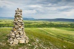 Cairn di pietra in Khakassia Immagine Stock Libera da Diritti