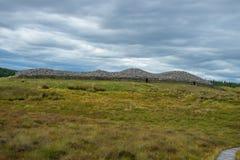 Cairn di pietra scozzesi di clava della casa fotografie stock libere da diritti