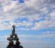 Cairn en pierre 1 Photo libre de droits