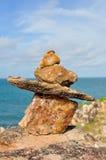 Cairn en pierre photo stock