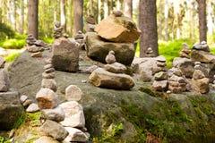 Cairn en pierre Image stock