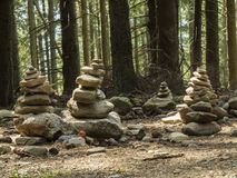 Cairn in the forest Stock Image