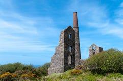 Cairn Galver Tin Mine immagini stock