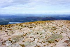 Cairn Gorm Mountain summit in the Cairngorm National Park Stock Photos