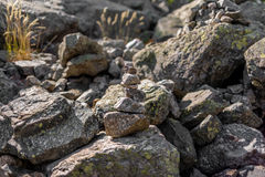 Cairn on GR20 hiking trail in Corsica - 2 Stock Photography