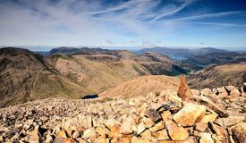 Cairn on Great End Royalty Free Stock Photography