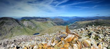 Cairn on Great End Stock Image