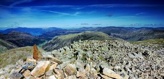 Cairn on Great End Royalty Free Stock Photo