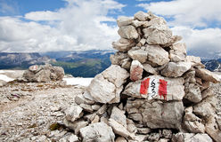 Cairn hiking trail Stock Image