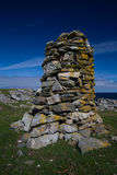 Cairn on the Hilside in the Outer Hebrides Stock Photo