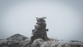 Free Cairn In The Fog Royalty Free Stock Photography - 187941527