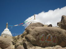 cairn Le stupa bouddhiste, choyten Photos stock