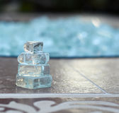Cairn Made from Broken Glass. A miniature cairn made from broken glass pieces Stock Photography