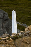 Cairn marking the international border between Canada and the United States Stock Photos