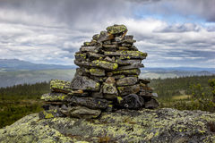Cairn on a mountain Royalty Free Stock Image