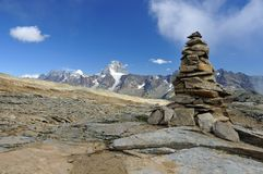 Cairn in mountains Royalty Free Stock Images