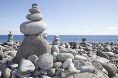 Cairn of playa de Satiago Stock Images