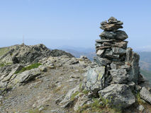 Cairn - Punta la Marmora - Gennargentu National Park Stock Images