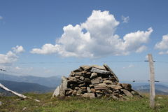 Cairn in Pyrenees Fotografia Stock Libera da Diritti
