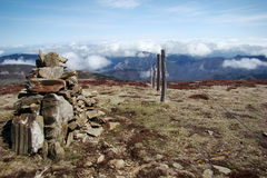 Cairn in Pyrenees Royalty Free Stock Photography