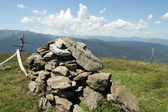 Cairn in Pyrenees Stock Photography