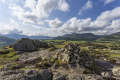 Cairn rock pile on top of Naddle Fell Royalty Free Stock Photos