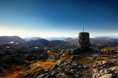 Cairn at the summit Royalty Free Stock Photography